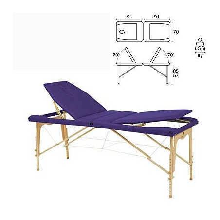 Camilla plegable madera Ecopostural C3213