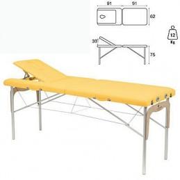 Camilla plegable mixta madera aluminio Ecopostural C3315M41