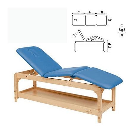 Camilla fija madera 3 cuerpos altura regulable con bandeja C3229