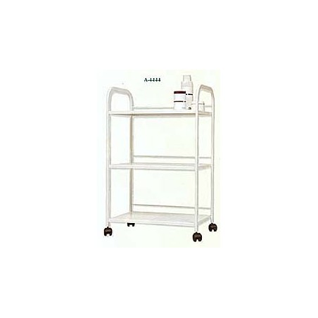 Mesa carrito metálica 3 baldas 63 x 43 x 100 cm (blanca)