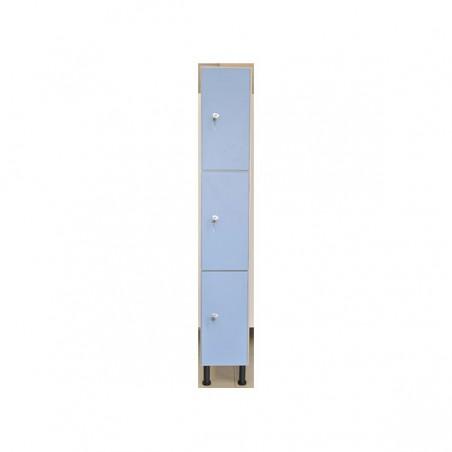 Taquilla vestuario melamina con 3 puertas 60x30x50 cm