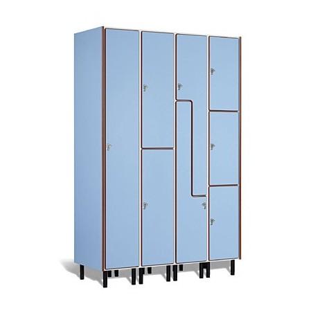 Taquilla vestuario melamina 1 puerta fenólica 180x30x50cm