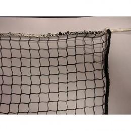 Red de Badminton, nylon ribeteado perimetral