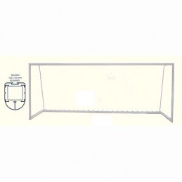 Juego porterías fútbol 5 móviles aluminio postes ovalados 120x100 mm