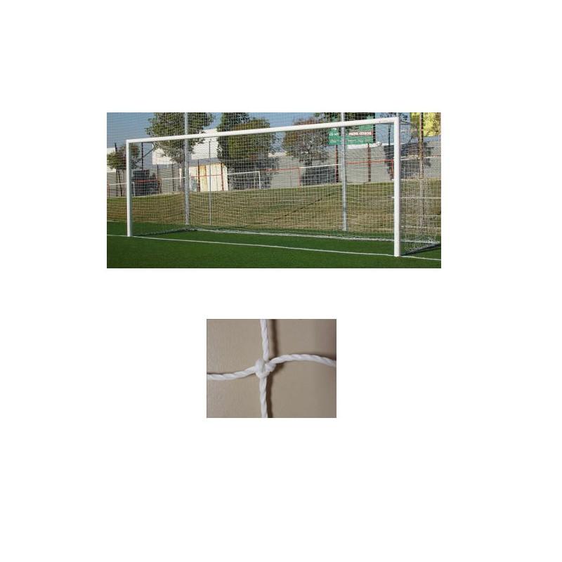 Redes porterías fútbol 11 cajón polietileno de 3mm malla 140mm