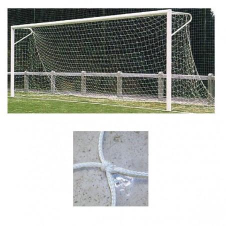 Redes porterías fútbol 11 arquillos nylon de 3mm malla 120mm