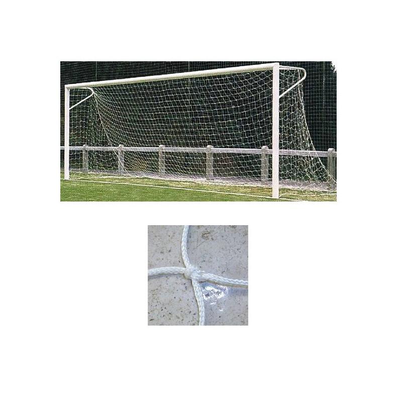 Redes porterías fútbol 11 arquillos nylon de 4mm malla 120mm