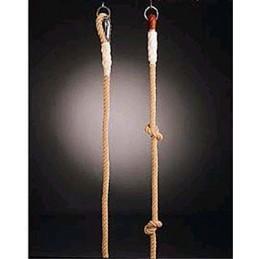 Cuerda trepa de cáñamo con nudos 5 m de largo con sujeciones metálicas