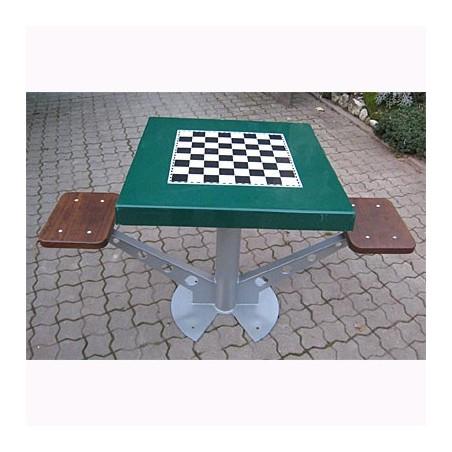Mesa de ajedrez antivandálica para exterior 2 jugadores