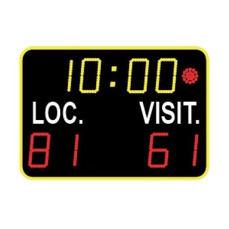 Marcador deportivo electrónico multideporte para interior 8 dígitos