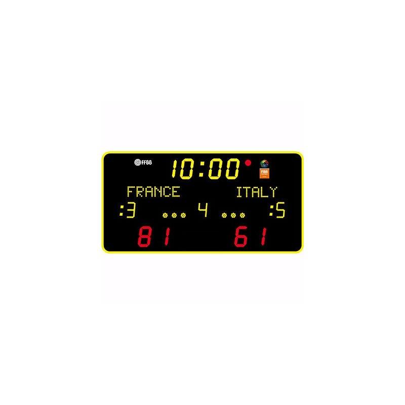 Marcador electrónico para interior 17 dígitos nombres equipos