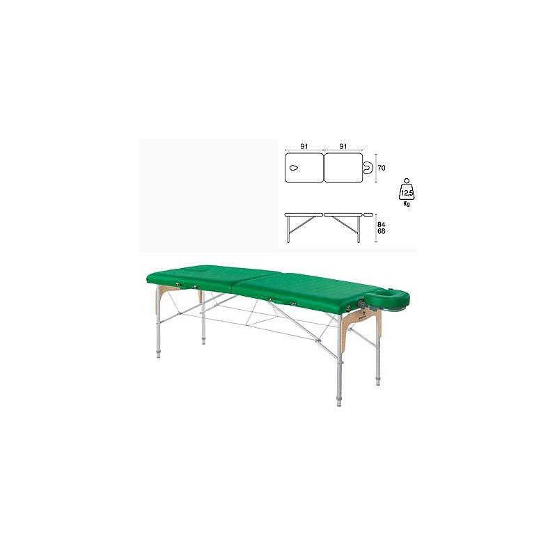 Camilla plegable mixta madera con aluminio Ecopostural C3308