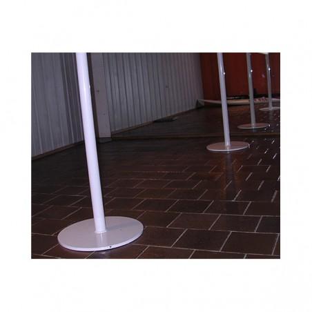 Sujeción suelo móvil alto fijo barra ballet diámetro 45mm