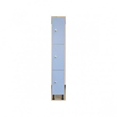 Taquilla vestuario melamina 3 puertas fenólicas 60x30x50cm
