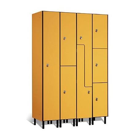Taquilla vestuario fenólica 2 puertas en L 90x30x50cm