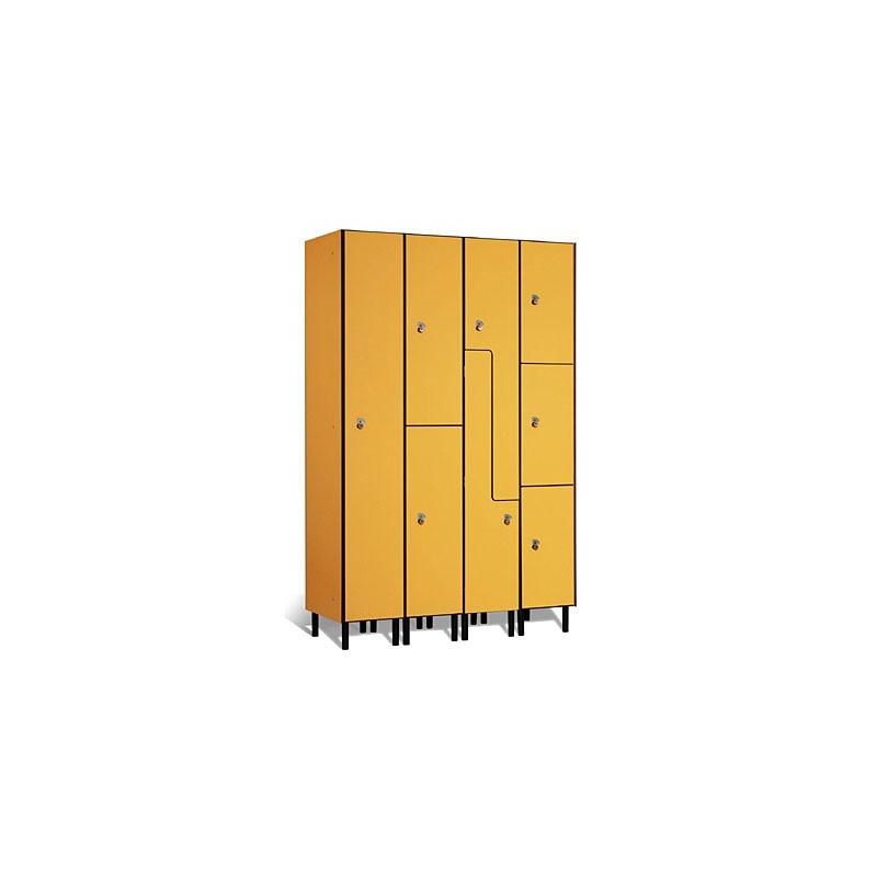 Taquilla vestuario fenólica 4 puertas 45x30x50cm