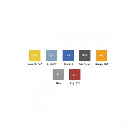 Colores de las puertas de las taquillas para vestuario fabricadas en compacto fenólico
