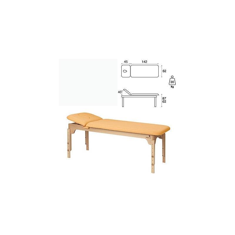 Camilla fija madera 2 cuerpos respaldo 45 cm altura regulable C3135