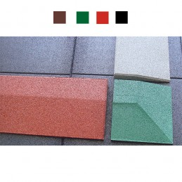 Borde biselado suelo seguridad 40mm rojo verde negro marrón