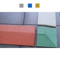 Borde biselado suelo seguridad 40mm gris azul amarillo