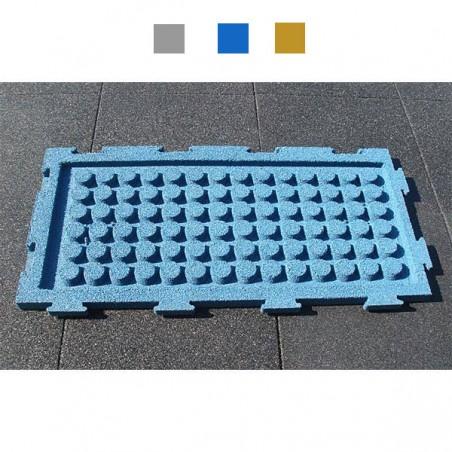 Suelo seguridad parques infantiles engarzable 1000x500x40mm
