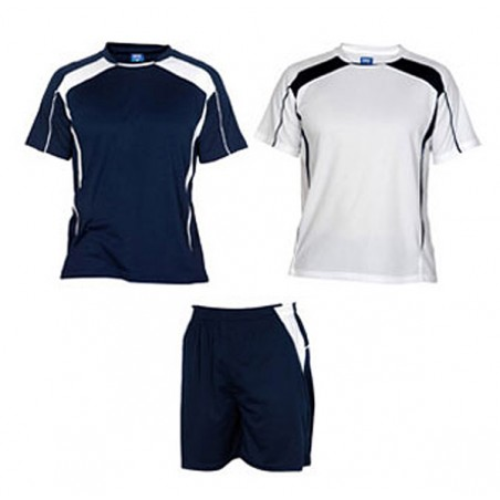 Conjunto 2 camisetas, pantalón deporte infantil Salas azul marino y blanco