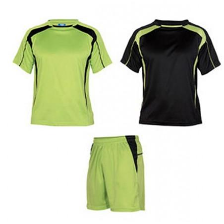 Conjunto 2 camisetas, pantalón deporte infantil Salas pistacho y negro