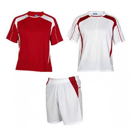 Conjunto 2 camisetas, pantalón deporte infantil Salas rojo y blanco