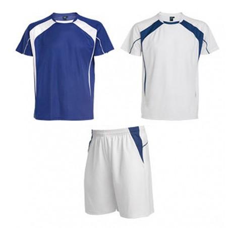 Conjunto 2 camisetas, pantalón deporte infantil Salas azul royal y blanco