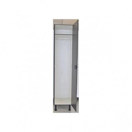 Vista interior taquilla vestuario melamina con 1 puerta 180x30x50 cm