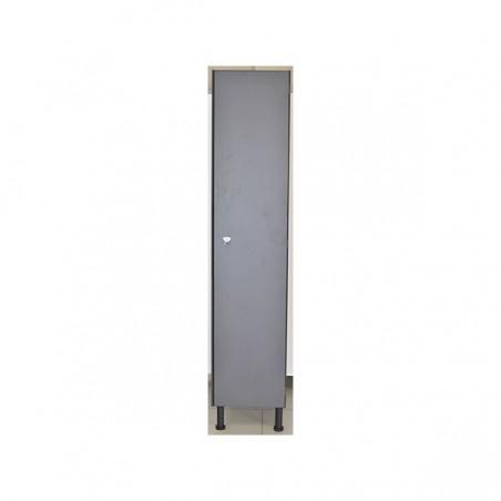 Vista exterior taquilla vestuario melamina con 1 puerta 180x30x50 cm