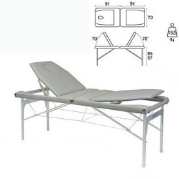 Camilla plegable aluminio masaje y terapia Ecopostural C3413M61