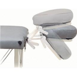 Cabezal articulado para camillas plegables con tensores