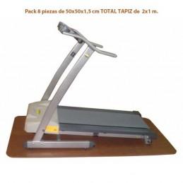 Suelo fitness pack 8 losetas 50x50x1 cm