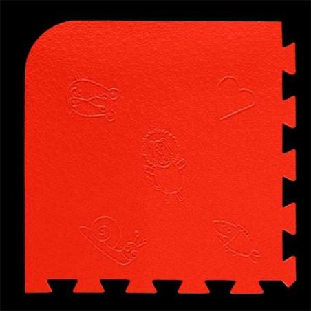 Loseta pack de 9 losetas de 55x55x1,5 cm para área de juegos infantiles Rojo