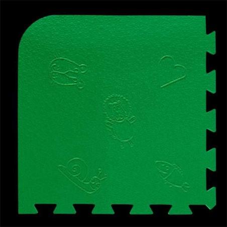 Loseta pack de 9 losetas de 55x55x1,5 cm para área de juegos infantiles Verde