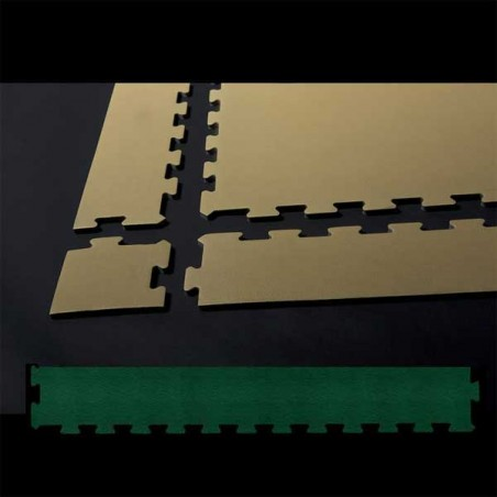 Perfil remate suelo de gimnasio fitness, cardiovascular y musculación 10x75x0,7 cm color Verde