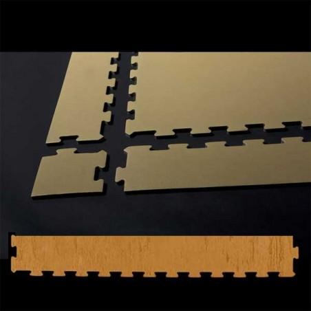 Perfil remate suelo de gimnasio fitness, cardiovascular y musculación 10x75x0,7 cm color Haya