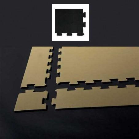 Esquina de remate para suelo gimnasio fitness 10x10x0,7 cm color Negro