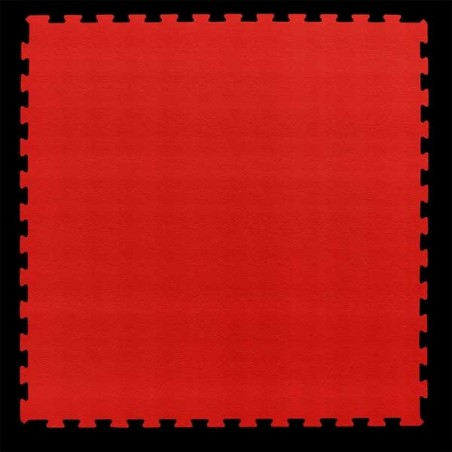 Pavimento suelo técnico de gimnasio para pilates, yoga o estiramientos 100x100x2 cm color Rojo