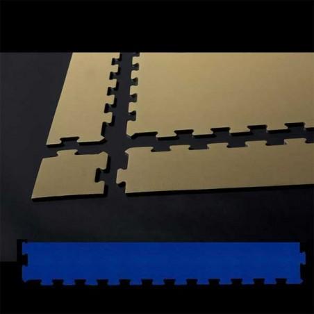 Perfil de remate para pavimento suelo técnico de gimnasio para pilates, yoga o estiramientos  12x100x2 cm Azul