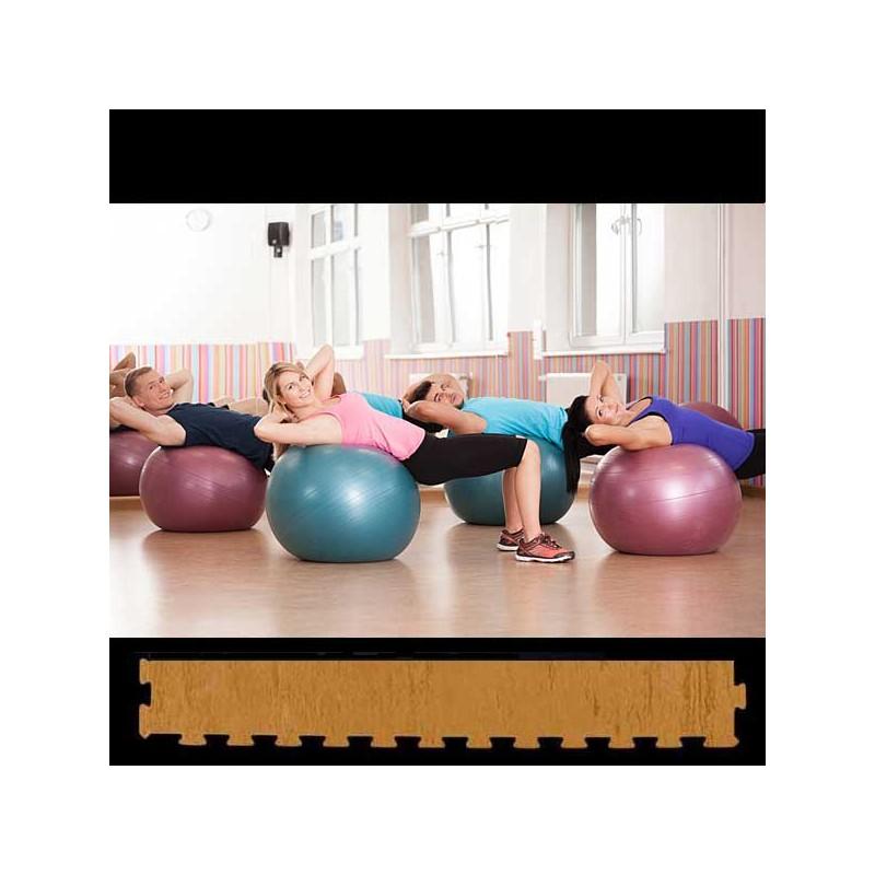 Perfil de remate en forma de cuña para acabado de suelo pilates yoga 30x100x2 cm