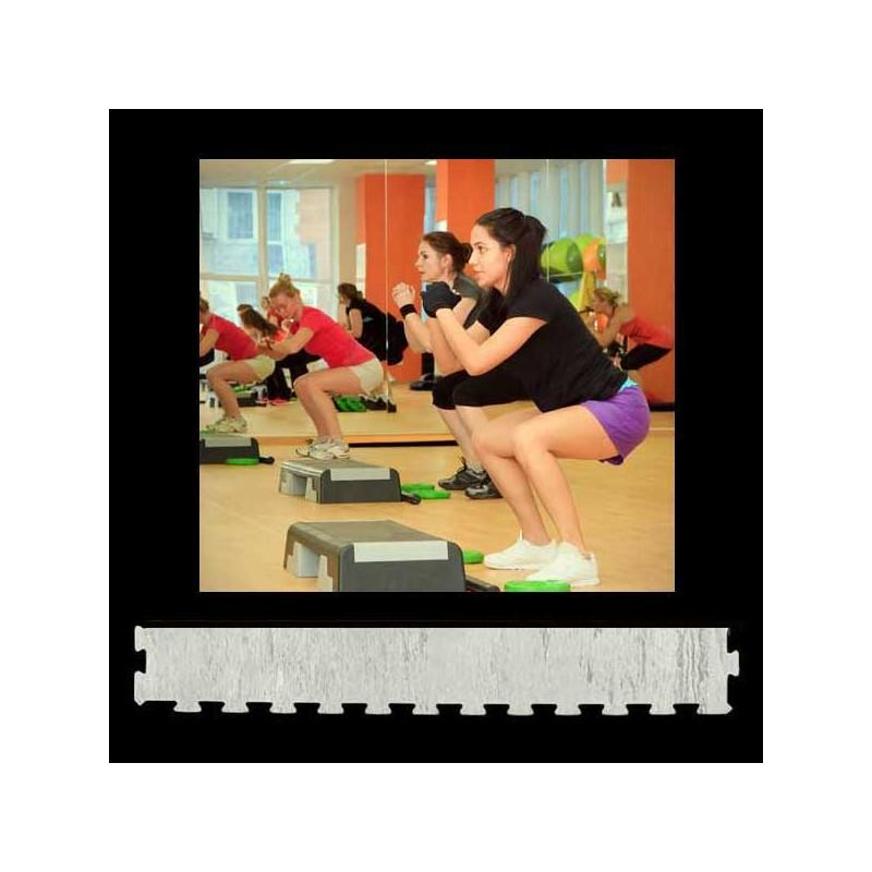 Perfil para remate de pavimento o suelo gimnasio aerobic piezas de 12X100X1 cm