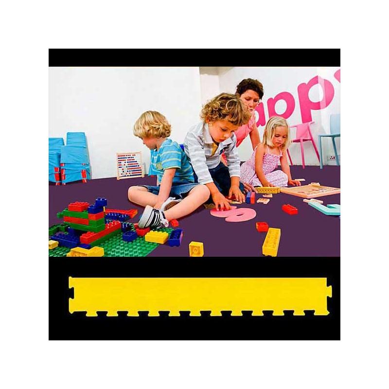 Perfil remate pavimento suelo para zona de juegos infantiles, guardería psicomotricidad 12x100x2 cm