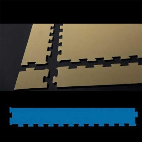 Perfil remate pavimento suelo para zona de juegos infantiles, guardería psicomotricidad 12x100x2 cm Azul