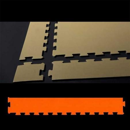 Perfil remate pavimento suelo para zona de juegos infantiles, guardería psicomotricidad 12x100x2 cm Naranja