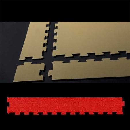 Perfil remate pavimento suelo para zona de juegos infantiles, guardería psicomotricidad 12x100x2 cm Rojo