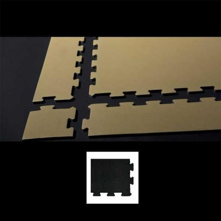 Esquina en forma de cuña, para remate de pavimento o suelo gimnasio aerobic piezas de  15X15X1 cm Negro