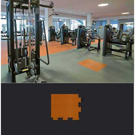 Esquina suelo gimnasio fitness 12x12x1,5 cm