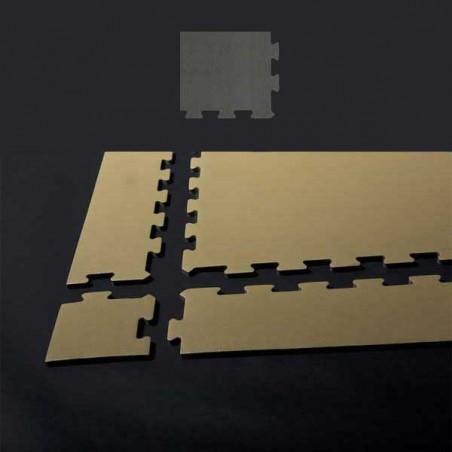 Esquina de remate para suelo gimnasio fitness 12x12x1,5 cm color Gaviota